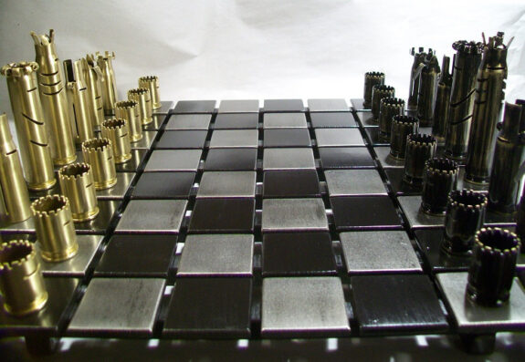 Bullet Shell Chess Sets Bespokebug