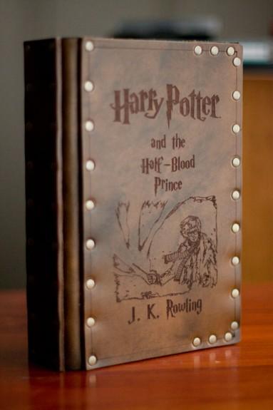 Leather Covered Harry Potter Books Bespokebug