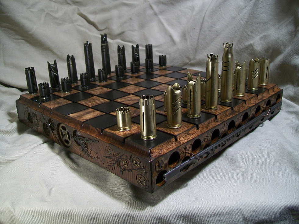 Bullet Shell Chess Sets Bespokebug