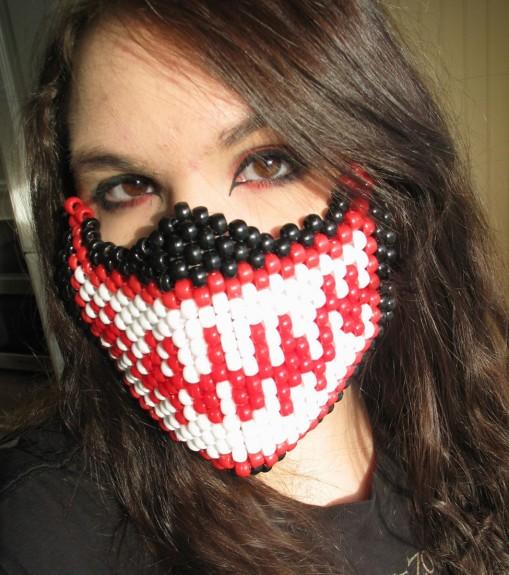 Creepy Beaded Half Masks