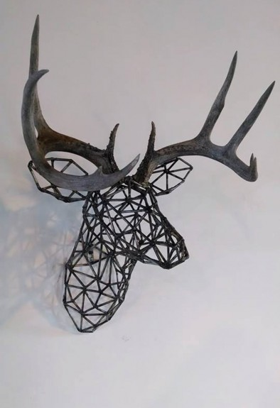 Deer Head Mount >> Metal Deer Mount Sculpture | BespokeBug