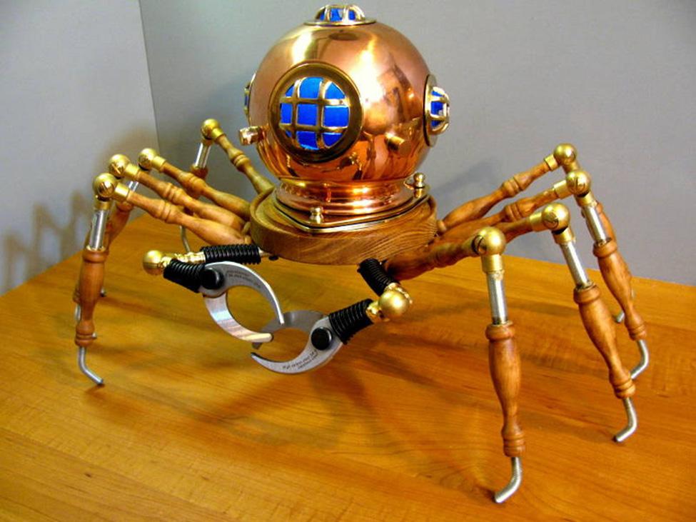 Steampunk Crabby Diver Light Bespokebug