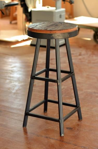 Barnboard Amp Steel Bar Stools Bespokebug
