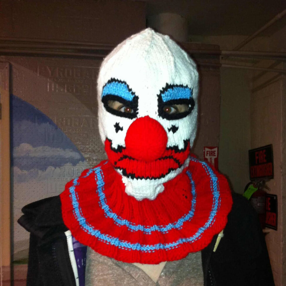 Knitted Clown Balaclava Bespokebug