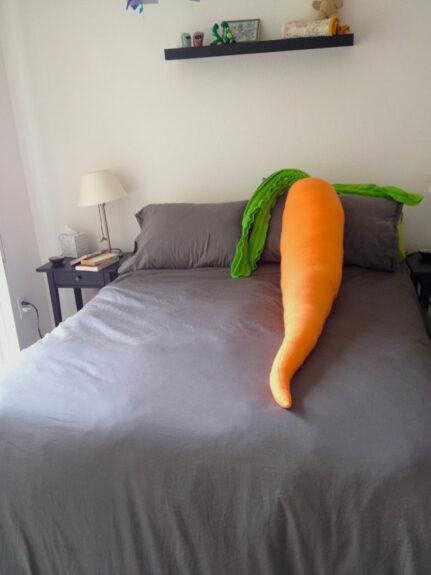 Giant Carrot Pillow Bespokebug