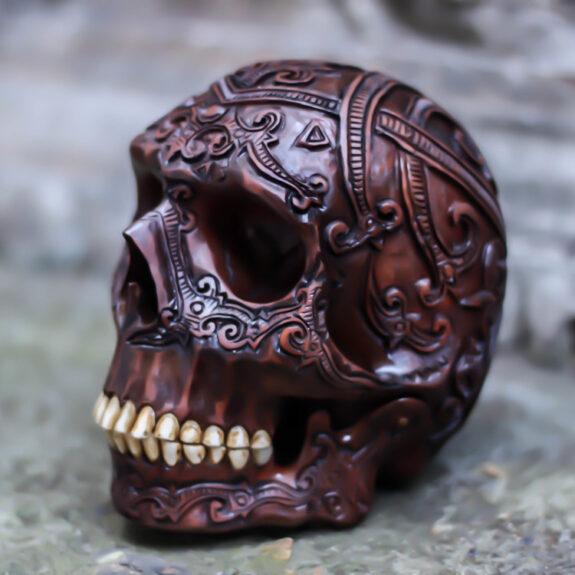 Hand Carved Human Skull Bespokebug